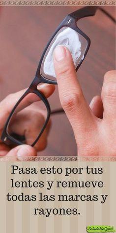 Limpia de marcas y suciedad tus lentes con dos simples ingredientes.#saludable #salud #lentes #anteojos #limpiar #rayones #rayas #bicarbonatodesodio #pastadental #dentifrico #rayados