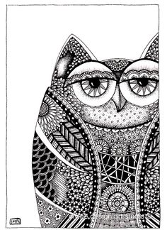 Amazing Owl by Lorrie Bennett -- see how the outline patterns are the same.....
