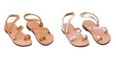 Детские сандалии из натуральной кожи в греческом стиле.