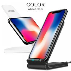 CinkeyPro QI Wireless Charger Quick Charge Fast Charging for iPhone 8 10 X Samsung Stand & Price: & Flat Rate Shipping Iphone Charger, Iphone Cases, Iphone Gadgets, Smartphone, Iphone Price, Shops, Samsung, Iphone 8 Plus, Phone Accessories