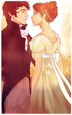 Image shared by Virna. Find images and videos about illustration, pride and prejudice and jane austen on We Heart It - the app to get lost in what you love. Jane Austen, Viria, Fanart, Cyberpunk, Portrait Au Crayon, Image Couple, Maxon Schreave, Timberwolf, Becoming Jane