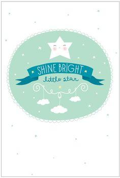 a Little Lovely poster: Shine bright Pretty Images, Cute Images, Maya, A Little Lovely Company, Baby Deco, Princess Nursery, Cute Poster, Kawaii, Baby Album