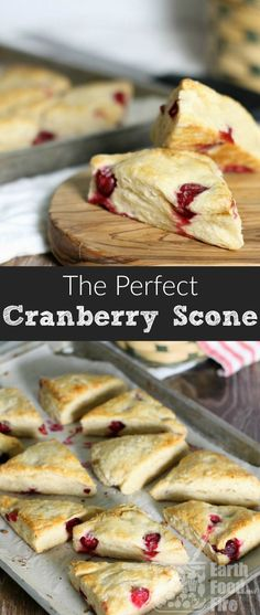 These cranberry scones are exceptionally easy to make, perfect for breakfast or tea time, and just the right combination of sweet and tart. A simple recipe, any level baker can attempt! #cranberry #scones #breakfast #baking #brunch