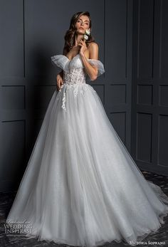 victoria soprano 2020 bridal off the shoulder sweetheart necklne heavily embellished bodice romantic ball gown a line wedding dress mid back chapel train mv -- Victoria Soprano 2020 Wedding Dresses Wedding Dress Accessories, Wedding Dress Styles, Boho Wedding Dress, Dream Wedding Dresses, Bridal Dresses, Wedding Mandap, Wedding Stage, Wedding Receptions, Beautiful Wedding Gowns