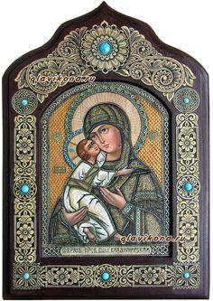 Владимирская Божия Матерь - икона вырезанная из бересты