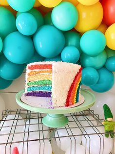 A very bright first birthday! Rainbow Birthday Party, Rainbow Theme, Baby Birthday, 1st Birthday Parties, Birthday Cake, Birthday Ideas, Cupcake Toppers, Cupcake Cakes, Cupcakes
