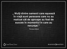 ",,Nu te lăsa învins niciodată! Succesul te aşteaptă!""- Thomas Edison Zig Ziglar, Abs, Cards Against Humanity, Motivation, Words, Beautiful, Abdominal Muscles, Daily Motivation, Ab Workouts"