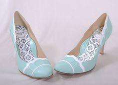 blue wedding shoes, vintage