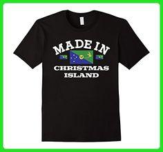 Mens Made In Christmas Island Flag T-Shirt Small Black - Holiday and seasonal shirts (*Amazon Partner-Link)