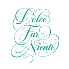 Il dolce far niente The art of doing nothing