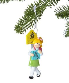 Loving this Blonde Schoolgirl Personalized Ornament on #zulily! #zulilyfinds