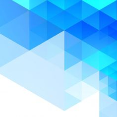 Abstract blue geometric background Free Vector