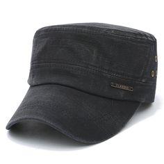 Mens Cotton Plain Flat Vintage Cadet Solid Washed Cap Airhole Stitching  Retro Hats - Banggood Mobile e2fa35e23a2e