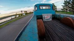 Cool cruising GoPro angle on a Chevy Advanced Design five window pickup