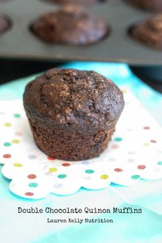 Double Chocolate Quinoa Muffins | Lauren Kelly Nutrition