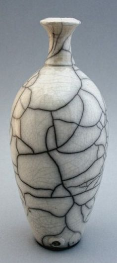 UK Potter CHRIS HAWKINS | Raku white glazed