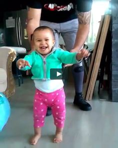 Niece is so happy to start walking! Been watching this all day to soak in her happy.