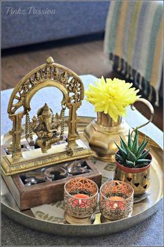 Trendy Home Decored Accessories Interior Design Coffee Tables Ethnic Home Decor, Indian Home Decor, Diy Home Decor, Coffee Table Vignettes, Decorating Coffee Tables, Indian Inspired Decor, Buddha Decor, Indian Home Interior, Boho Stil