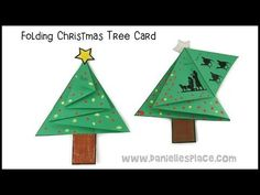 Christmas Tree Card Craft - YouTube