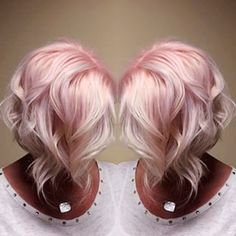 30+ Trendy Silver Rose Hair Color You Must Try Check more at http://lucky-bella.com/trendy-silver-rose-hair-color/