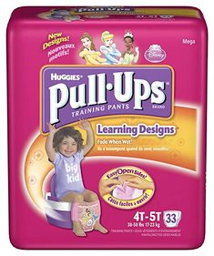 Huggies Pull-Ups Training Pants, Girls, 4T-5T, 33-Count Review