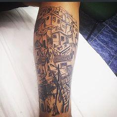 @jansenerick33 Vms q Vms ✌️ #tattoo #tatuagem #tattooman #tatuagemmasculina #fechamento #tatuagemperna #favela #morro #dende  #delicadeza #carioca #abencoado #fe #estilodevida #estilo #errejota #021 #woman #tattoowoman #follow #followfollow #ink #tattoorio #riodejaneiro #protecao