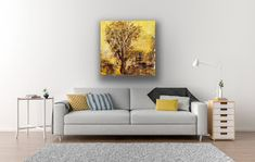 Large Painting on Canvas Yellow White Abstract Wall Art Bedroom Modern Wall Art Living Room Acrylic Wood Canvas, Canvas Art, Minimalist Painting, Large Painting, Painting Art, Seascape Paintings, Living Room Art, Abstract Expressionism, Abstract Art