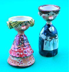 Set of 2 unique, ceramic eggcups, handmade in beautiful Bamberg.