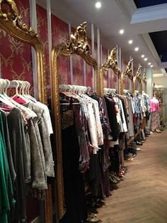Framed clothing racks