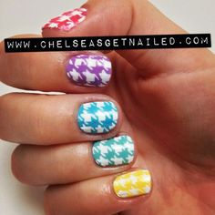 nail trends 2014 | 50 Best Houndstooth Nail Art Designs Ideas Trends Stickers Wraps 2014 ...