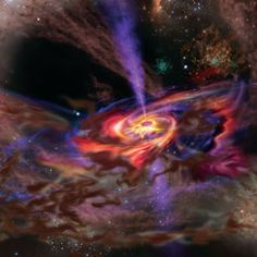 Black hole swallowing a cloud - very cool!