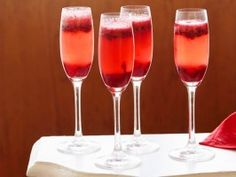 Cooking Channel serves up this Cranberry Kir Royale recipe from Tyler Florence plus many other recipes at CookingChannelTV.com