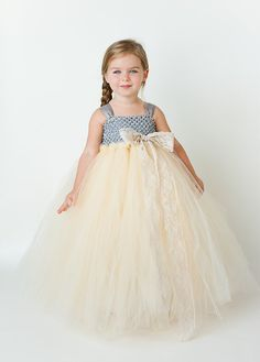 Anastasia Flower Girl Tutu Dress with Lace by TheLittlePeaBoutique, you can change the colors..  @Valerie Avlo Amador