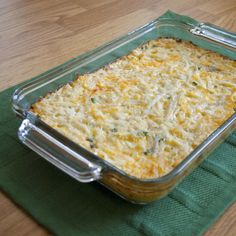 EASY HOLIDAY RECIPE... Shredded Potatoes au Gratin, on Homekeepers TV show, 12/13/13... FIVE INGREDIENTS, so easy...can be put in a casserole dish or individual ramekins.