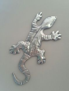 Large pewter gecko by Debbie @ Pewter Studio