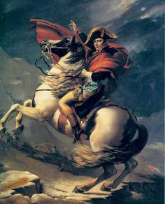 TIL Napoleon Crossing the Alps refers to 5 versions of an oil on canvas equestrian portrait of Napoleon Bonaparte painted by the French artist Jacques-Louis David between 1801 and 1805 French History, Art History, Jacque Louis David, Chateau De Malmaison, Classic Paintings, Classical Art, Horse Art, Oeuvre D'art, Alps
