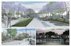Sidewalk, Urban Intervention, First Place, Landscaping, Places, Side Walkway, Walkway, Walkways, Pavement