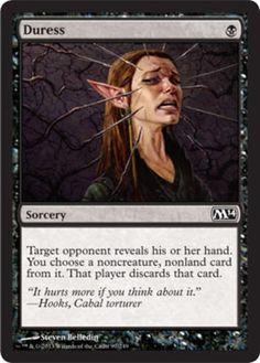 Duress mtg Magic the Gathering M14 black sorcery discard card