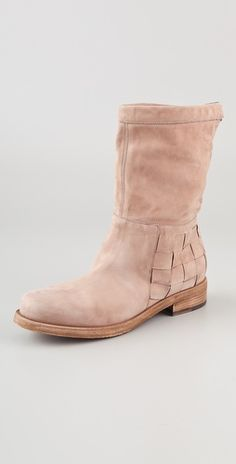 Vic Matie - Zimbawe Woven Flat Boots /// love the texture on the heel