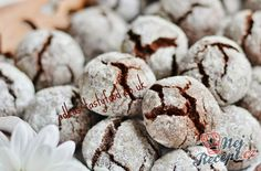 Silně čokoládové CRINKLES Christmas Sweets, Christmas Baking, Christmas Cookies, Xmas, Sweet Cooking, Healthy Deserts, Mini Cheesecakes, Yummy Cookies, Desert Recipes