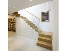 Folded staircase with base cabinet- Faltwerktreppe mit Unterbauschrank Folded staircase with base cabinet -