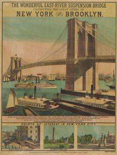 On May 24, 1883, the Brooklyn Bridge opened over the East River, connecting the busy New York City boroughs of Manhattan and Brooklyn.