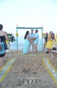 Blue Yellow Beach Wedding Decorations In Ocean City MD
