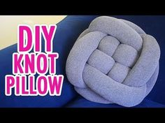 DIY Knoten Kissen zum Selbermachen Kissen selbst gestalten Anleitung