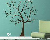 Blowing Tree Wall Decal - Windy Leaves Vinyl Wall Art Sticker - HT101. $95.00, via Etsy.