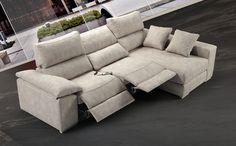 Sofá chaiselong reclinable relax - Sofá tapizado en tela
