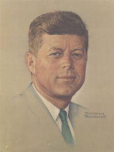 Portrait of John F. Kennedy - Norman Rockwell