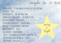 4more  Sampler No. 12/2014 {merry & bright} Ravetonettes, Robert Downey Jr., Hurts, Jeff Buckley & much more