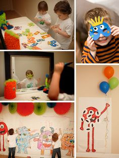 cute kid monster party