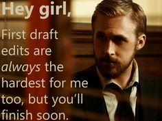 writing memes | Ryan Gosling Hey Girl